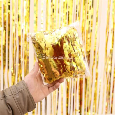 Foil Curtain Backdrop by Cheap Gold Foil Fringed Curtain Backdrop For Photo Booth