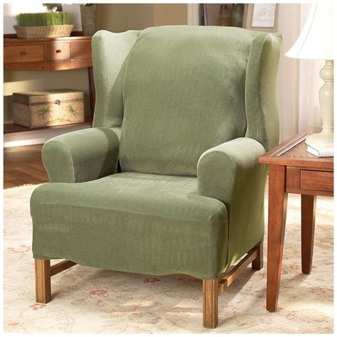sure fit wing chair slipcover sure fit stretch pearson wing chair slipcover 292826