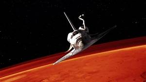 Space Shuttle Next To Mars. Elements Of This Clip ...