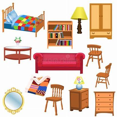 Furniture Vector Background Bedroom Living Isolated