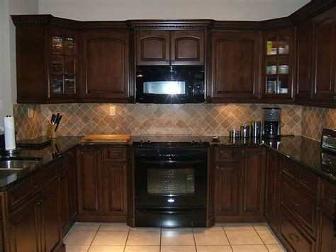 dark cabinets light countertops backsplash light colored tile backsplash ideas with dark cabinets