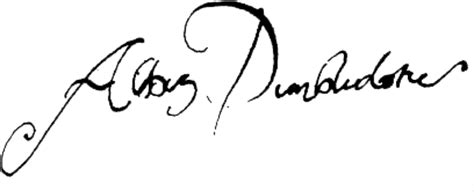 image dumbledore signature png harry potter canon