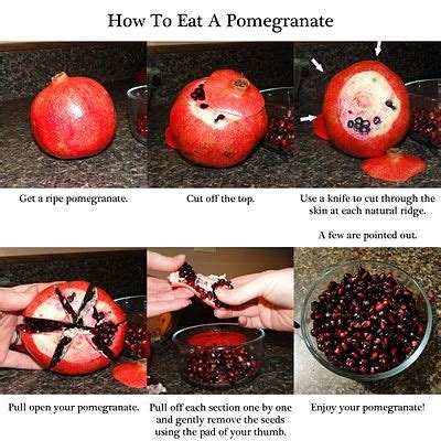 how to eat pomegranate how to eat a pomegranate pomegranates chang e 3 and fingers