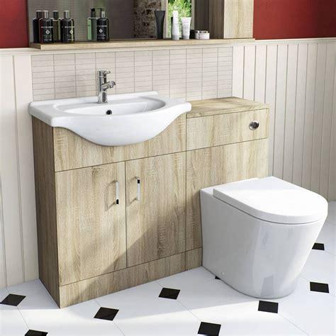 Plumb Bathroom Cabinets by Oak Arc Combination Vanity Unit Small