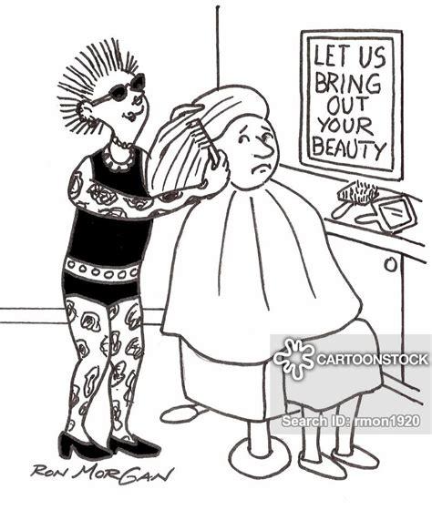 beauty salon cartoons  comics funny pictures