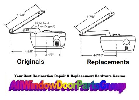 silver  casement operator replacement parts truth window hardware