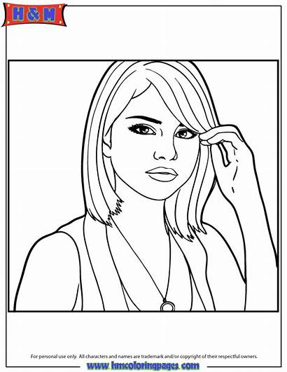 Coloring Selena Gomez Pages Portrait Quintanilla Drawing