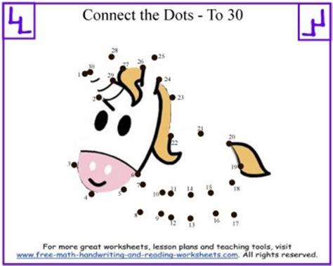 connect  dots printable sheets