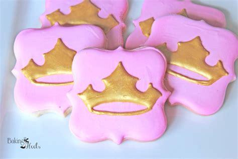 Decorated Crown Cookies by Princess Tiara Decorated Cookies Crown Cookies Princess
