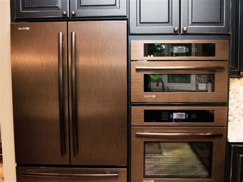 Kitchen Appliances Oven by Copper Refrigerator Wall Oven And Wall Microwave Copper