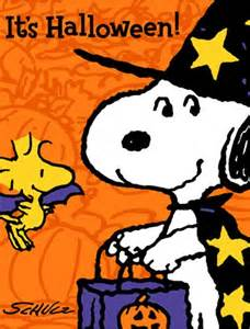 Snoopy and Woodstock Halloween Clip Art