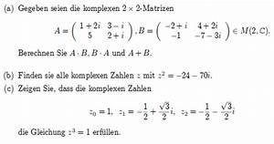 Matrizen Berechnen : gegeben seien die komplexen 2x2 matrizen berechnen sie a b b a und a b mathelounge ~ Themetempest.com Abrechnung