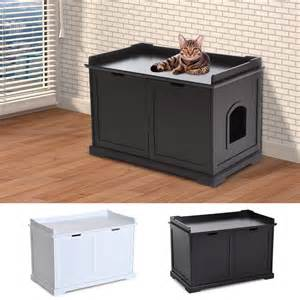 box bench litter box bench enclosure end table cat