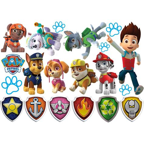 paw patrol wall stickers decor removable decal decals sticker home ebay