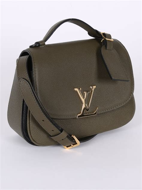 louis vuitton neo vivienne leather top handle bag olive green luxury bags