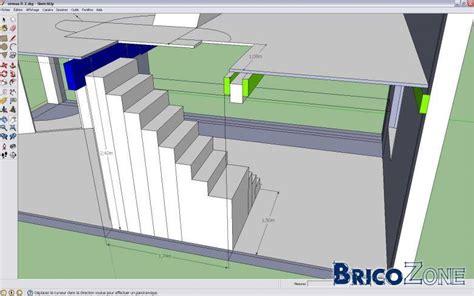 Tracage Escalier Quart Tournant Balancé by Dimensionnement D Un Escalier 2 Quarts Tournant