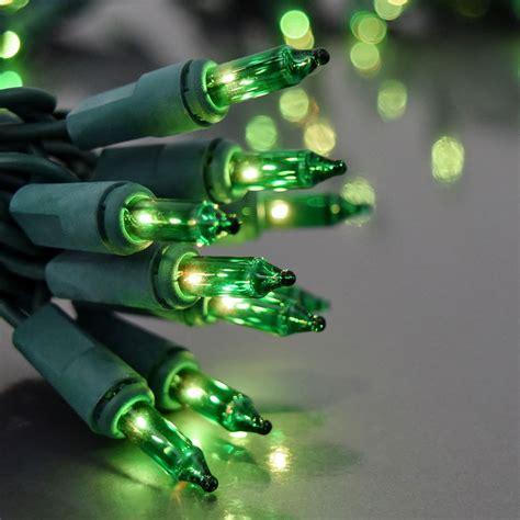 100 count green mini christmas lights