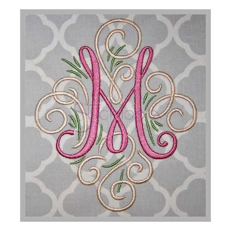 machine monogram font adorn monogram embroidery font stitchtopia