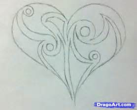 Easy Pencil Drawings Hearts