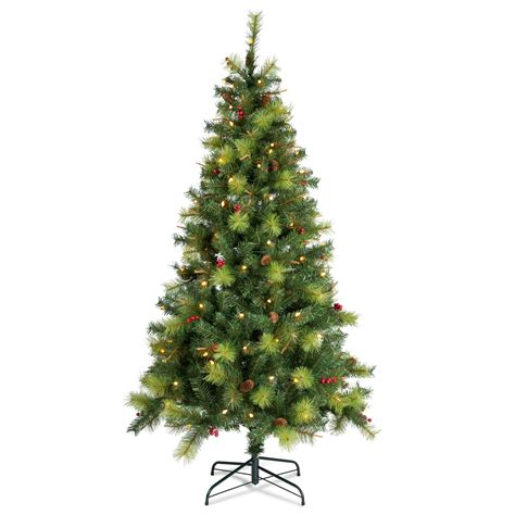 b and q artificial christmas trees 6ft 6in columbia pre lit led tree departments diy at b q