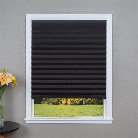 Blackout Window Shades by Redi Shade Black Blackout Cordless Pleated Shade Actual