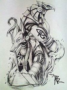 tattoo stencil egyptian - Recherche Google … | Anubis ...
