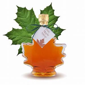 Maple Leaf Bottle - Canadian Maple Syrup