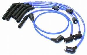 Blue Specific Spark Plug Wire Set Ngk 9672 For Nissan D21
