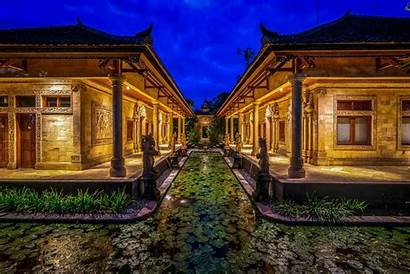 Bali Indonesia Houses Wallpapers Temple Fortune Hdr