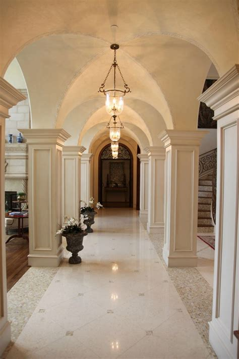 italian renaissance groin vaulted gallery house design