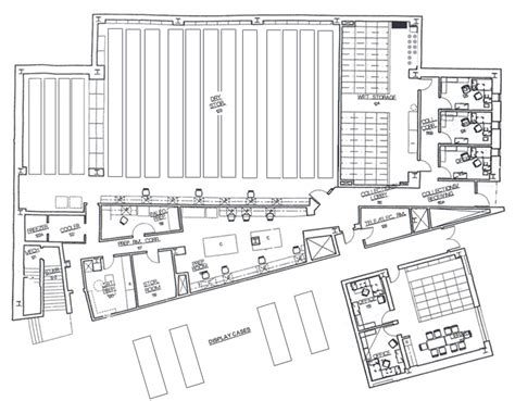 collections facility floor plan