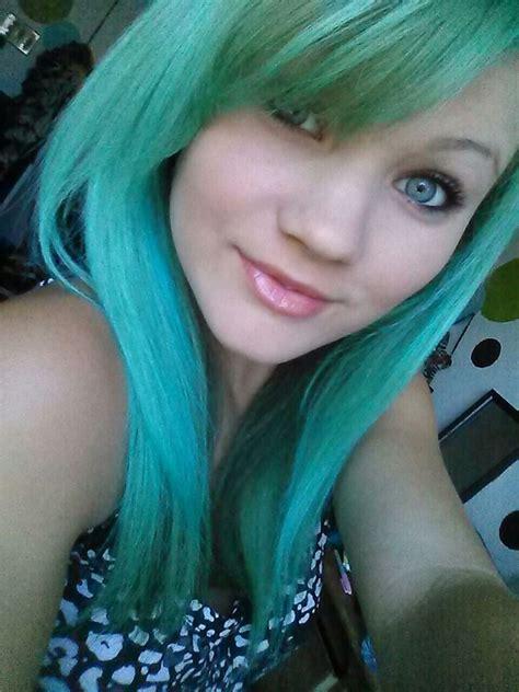 My Green Blue Ombre Kool Aid Dyed Hair Hair Pinterest