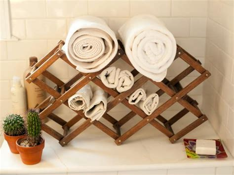 wine rack towel holder 7 creative storage solutions for bathroom towels and