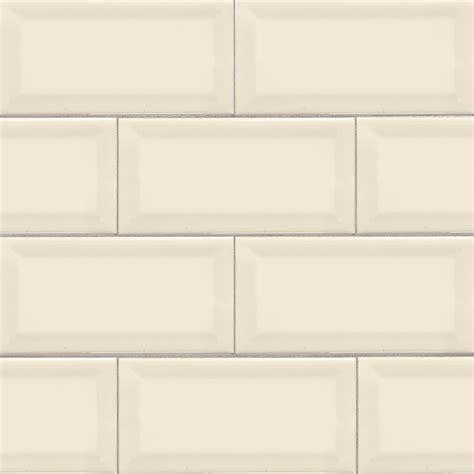 subway tile almond glossy subway tile beveled 3x6