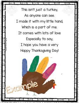 turkey handprint poem  thanksgiving  sarah griffin tpt