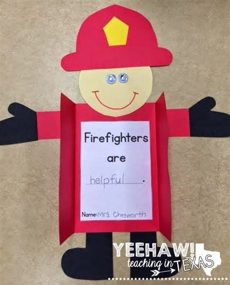 firefighter craft and differentiated writing activities 940 | ec96ebe6e5dc939dbc2ed39010ff5a28 fire safety crafts safety week