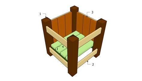 wooden planter plans  garden plans   build