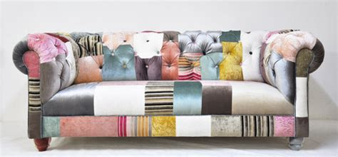 chesterfield patchwork sofa chesterfield patchwork sofa by name design studio eclectic sofas by etsy