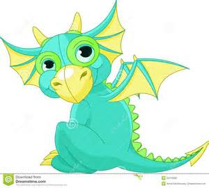 Cute Baby Dragon Clip Art