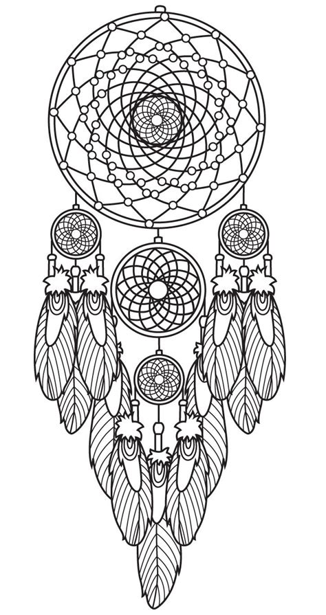 dreamcatcher coloring pages  adults images
