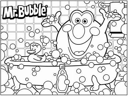 Coloring Bubble Pages Bath 3d Printable Colouring