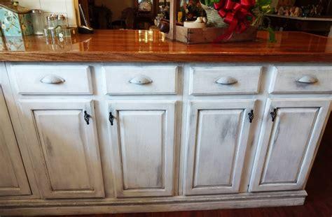 Distressed Whitewash Kitchen Cabinets New Home Design