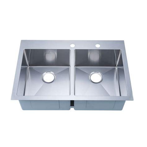 overmount stainless steel sink stufurhome nationalware overmount stainless steel 33 in 2