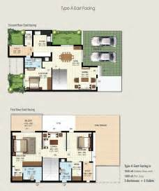find floor plans by address 3bhk row house for sale in hennur road bangalore at ramky serene woods row house in hennur