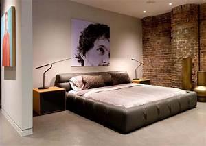 Bedroom brick wall design ideas