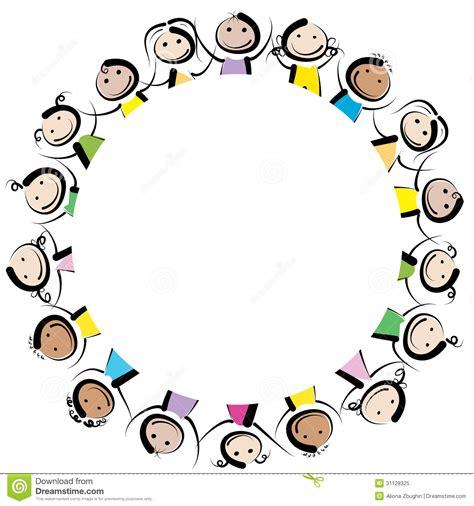 immagini clipart bambini bambini in un cerchio illustrazione vettoriale