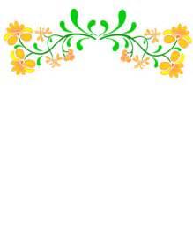 Flower Clip Art Fiesta Borders