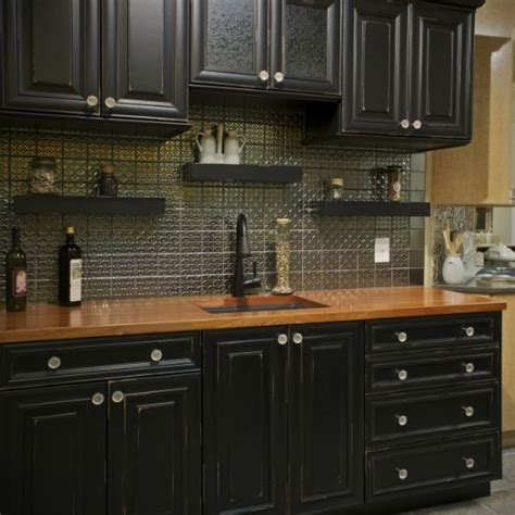 Kitchen Top Cupboards by Black Kitchen Cabinets With Wood Countertops Kitchen