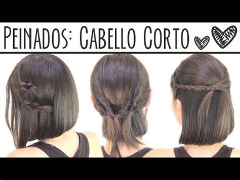 Peinados fáciles para cabello corto Short hair