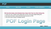 POF Login Page - POF Login Help - PlentyOfFish Login